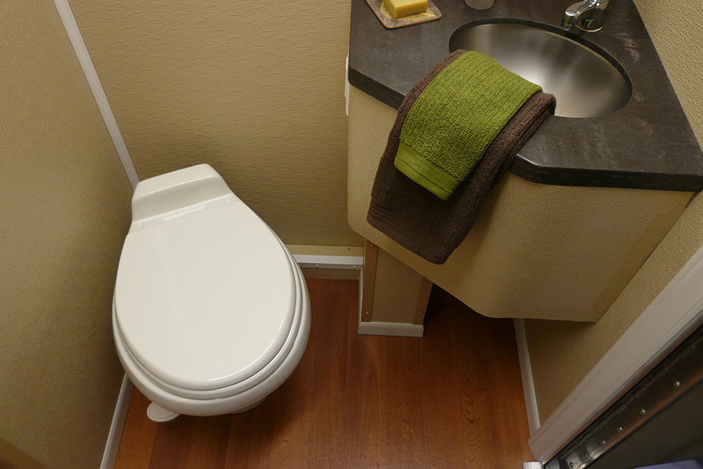 Staged Sink and Toilet