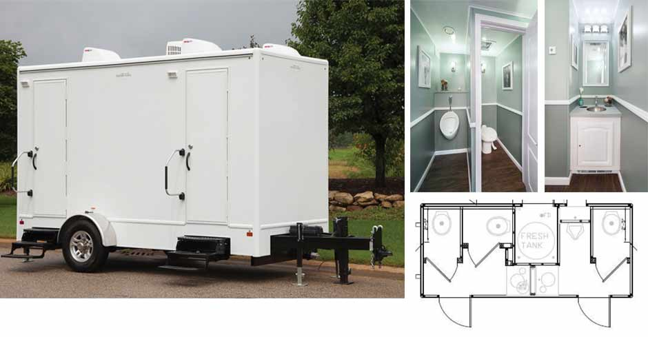 16 foot Luxury Mobile Restroom