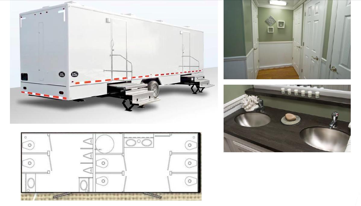24 Foot Cottage Mobile Restroom