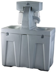 Two Station Free Standing Sink