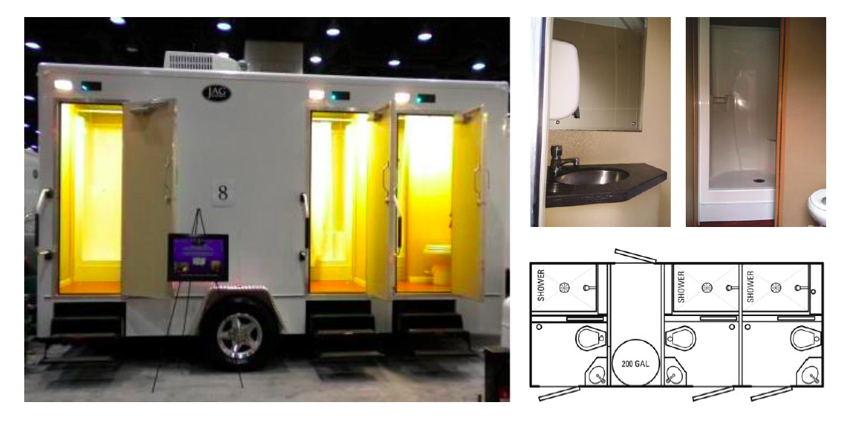 18 Foot Custom Comfort Elite Shower / Restroom Trailer