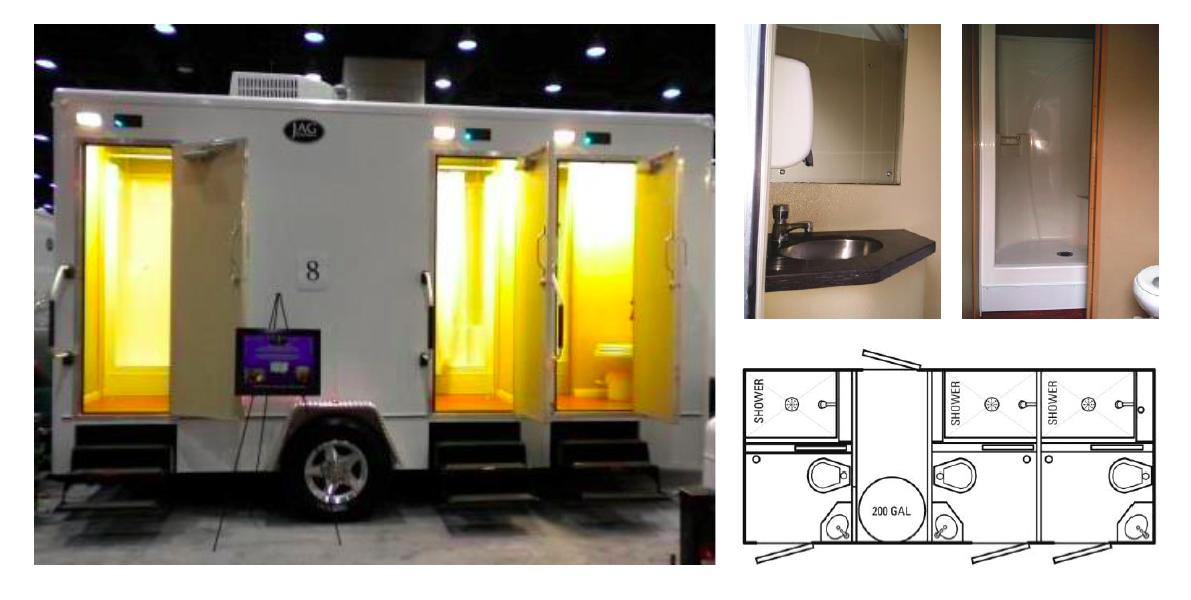 18 Foot Custom Comfort Elite Shower / Restroom Trailer